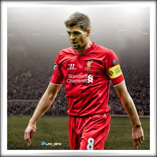 Gerrard 2014 Champions League shirt kit patches badges
