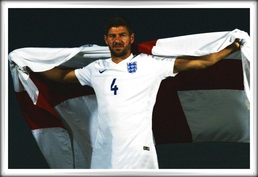 Steven Gerrard England Captain England Flag