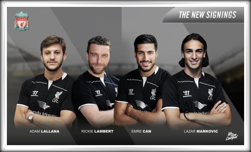 Liverpool FC Fab Four 4 New Signings Markovic Lambert Lallana Can