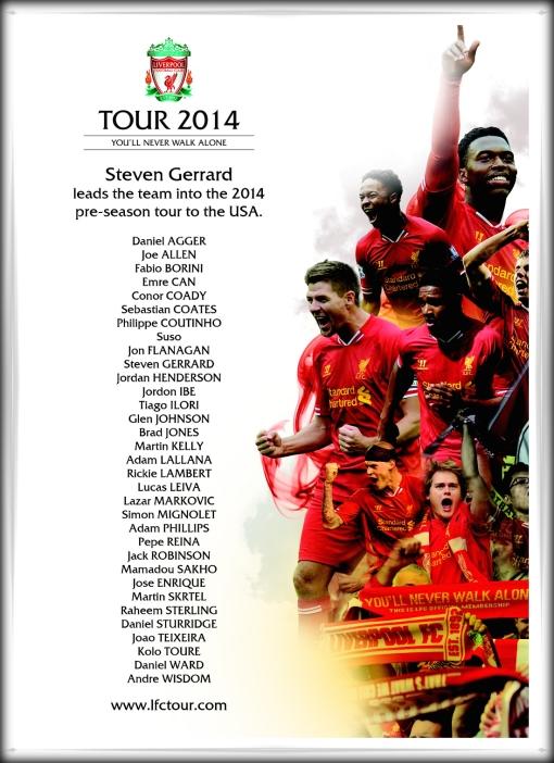 LFC Tour 2014 33 man squad USA