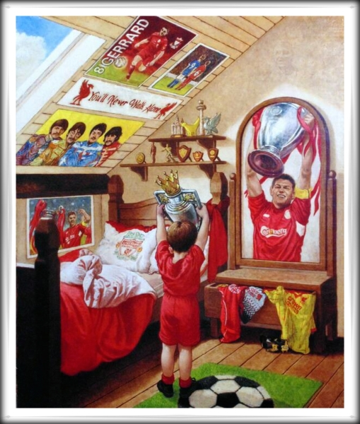 Steven Gerrard - European Champion (John Afflick) artist